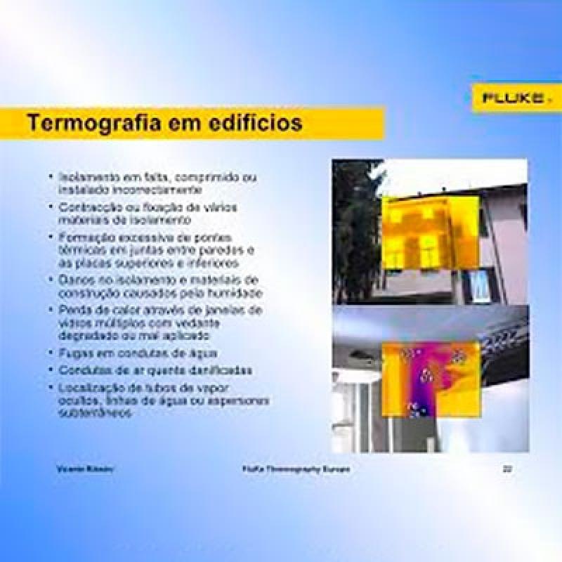 Termografias Prediais Higienópolis - Termografia Predial