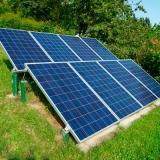 placa energia solar Praça da Arvore